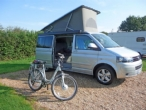 Sandy Balls Campsite, New Forest with Electric Bike(Click here to view the full image)