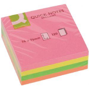 Q Connect Quick Cubes Neon 75mm x 75mm