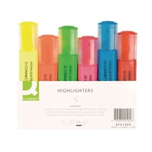 Q Connect Assorted Highlighters Pk 6