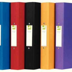 Q Connect A4 Ring Binders Assorted
